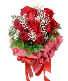 9 adet en kaliteli gülden kirmizi buket  Denizli çiçek siparişi sitesi