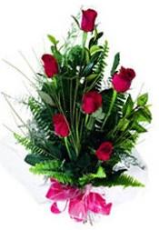 Denizli internetten çiçek siparişi  5 adet kirmizi gül buketi hediye ürünü