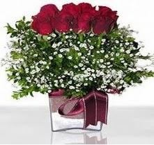 Denizli online çiçekçi , çiçek siparişi  mika yada cam vazo içerisinde 7 adet gül
