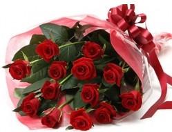 Denizli ucuz çiçek gönder  10 adet kipkirmizi güllerden buket tanzimi