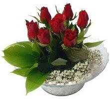 Denizli online çiçekçi , çiçek siparişi  cam yada mika içerisinde 5 adet kirmizi gül