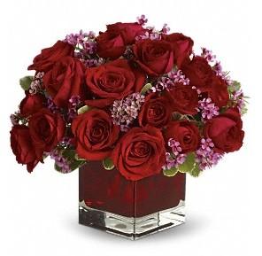 11 adet kırmızı gül vazosu  Denizli çiçek yolla , çiçek gönder , çiçekçi