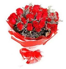 Denizli internetten çiçek satışı  12 adet kırmızı güllerden görsel buket