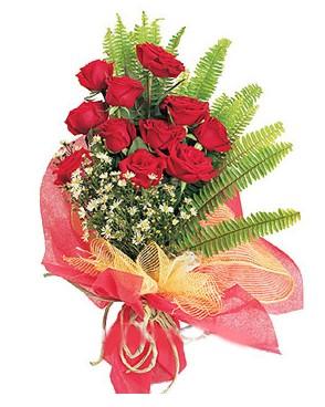Denizli cicekciler , cicek siparisi  11 adet kırmızı güllerden buket modeli