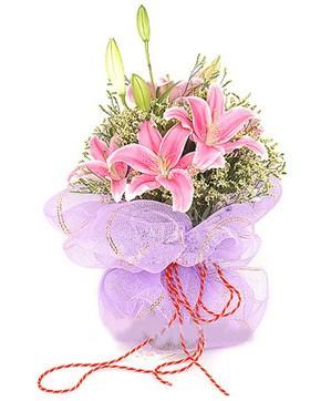 3 dal kazablanka görsel buketi  Denizli online çiçekçi , çiçek siparişi