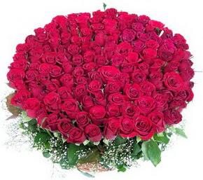 Denizli online çiçek gönderme sipariş  100 adet kırmızı gülden görsel buket