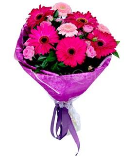 Denizli yurtiçi ve yurtdışı çiçek siparişi  karışık gerbera çiçeği buketi