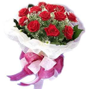Denizli çiçek online çiçek siparişi  11 adet kırmızı güllerden buket modeli