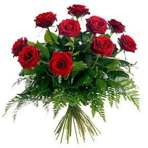 Denizli anneler günü çiçek yolla  10 adet kırmızı gülden buket