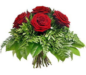 Denizli internetten çiçek satışı  5 adet kırmızı gülden buket