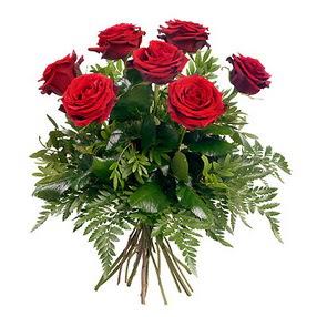 Denizli çiçek yolla  7 adet kırmızı gülden buket