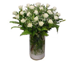 Denizli çiçek siparişi vermek  cam yada mika Vazoda 12 adet beyaz gül - sevenler için ideal seçim