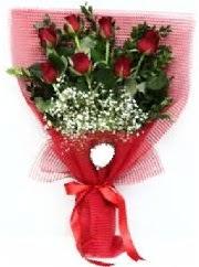 7 adet kırmızı gülden buket tanzimi  Denizli çiçek gönderme