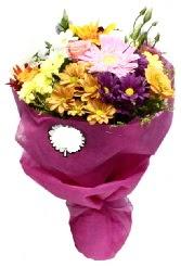 1 demet karışık görsel buket  Denizli ucuz çiçek gönder