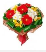 1 demet karışık buket  Denizli hediye çiçek yolla