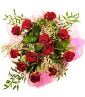 12 adet kırmızı gül buketi  Denizli çiçek , çiçekçi , çiçekçilik