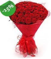 51 adet kırmızı gül buketi özel hissedenlere  Denizli yurtiçi ve yurtdışı çiçek siparişi