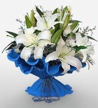 4 dal kazablanka çiçeğinden buket  Denizli çiçek gönderme