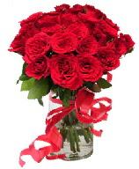 21 adet vazo içerisinde kırmızı gül  Denizli çiçek online çiçek siparişi