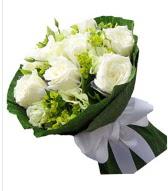 9 adet beyaz gül buketi  Denizli yurtiçi ve yurtdışı çiçek siparişi