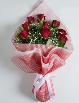 9 adet kırmızı gülden buket  Denizli çiçek online çiçek siparişi