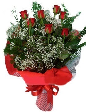 7 kırmızı gül buketi  Denizli çiçek siparişi sitesi