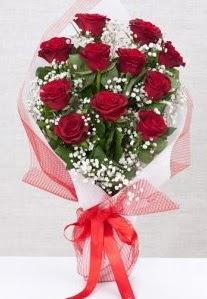 11 kırmızı gülden buket çiçeği  Denizli çiçek , çiçekçi , çiçekçilik