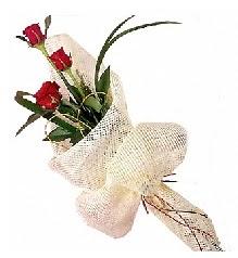 3 adet kırmızı gül buketi  Denizli internetten çiçek siparişi