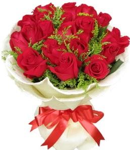 19 adet kırmızı gülden buket tanzimi  Denizli çiçek siparişi sitesi