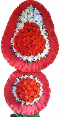 Denizli çiçek yolla  Çift katlı kaliteli düğün açılış sepeti