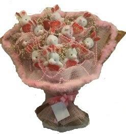 12 adet tavşan buketi  Denizli internetten çiçek satışı