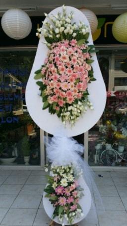 Çift katlı özel şahane sepet çiçeği  Denizli hediye sevgilime hediye çiçek