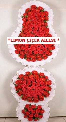 3 katlı kırmızı düğün açılış çiçeği  Denizli anneler günü çiçek yolla