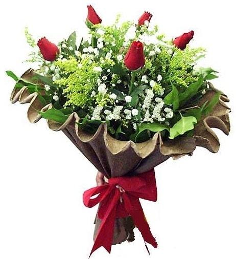 5 adet gülden buket  Denizli uluslararası çiçek gönderme