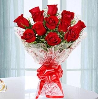 11 adet kırmızı gülden görsel şık buket  Denizli çiçek mağazası , çiçekçi adresleri