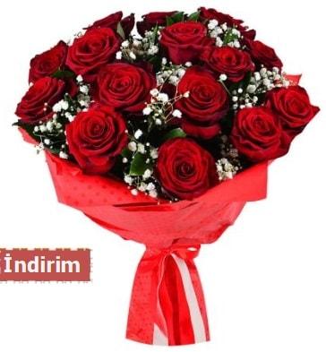 12 Adet kırmızı aşk gülleri  Denizli çiçek online çiçek siparişi