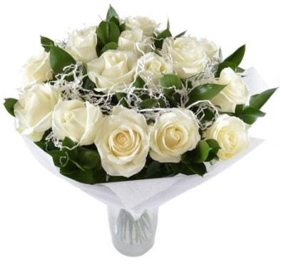 15 beyaz gül buketi sade aşk  Denizli çiçek online çiçek siparişi