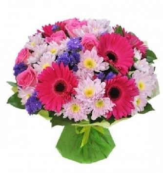 Karışık mevsim buketi mevsimsel buket  Denizli çiçek online çiçek siparişi
