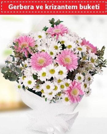 Papatya ve Gerbera Buketi  Denizli çiçek servisi , çiçekçi adresleri