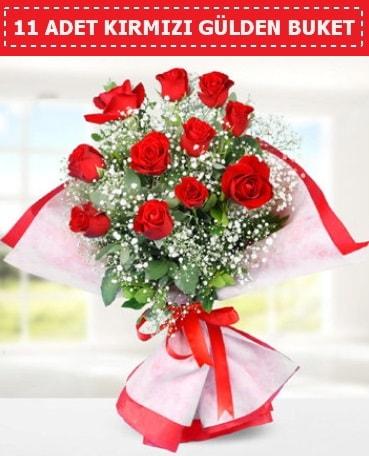 11 Adet Kırmızı Gül Buketi  Denizli İnternetten çiçek siparişi
