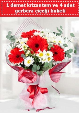Krizantem ve Gerbera Buketi  Denizli yurtiçi ve yurtdışı çiçek siparişi