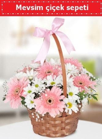 Mevsim kır çiçek sepeti  Denizli çiçek servisi , çiçekçi adresleri
